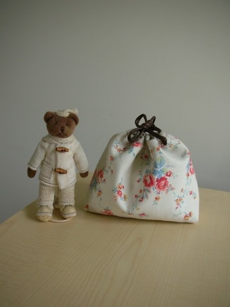 bagme Matsuyama Atsuko series 4- washed cotton drawstring bag / debris bag / Universal bag / cosmetic bag