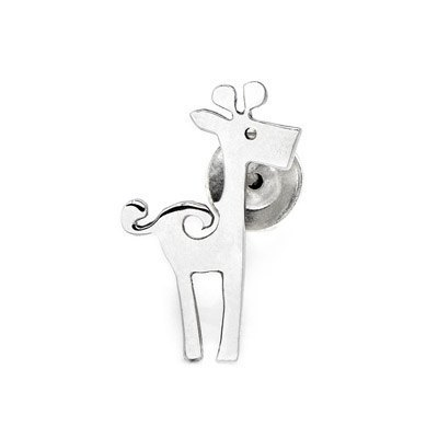 Dream Designs [design] free shipping in Hong Kong Sterling Silver earrings ear care polishing giraffe birthday gift