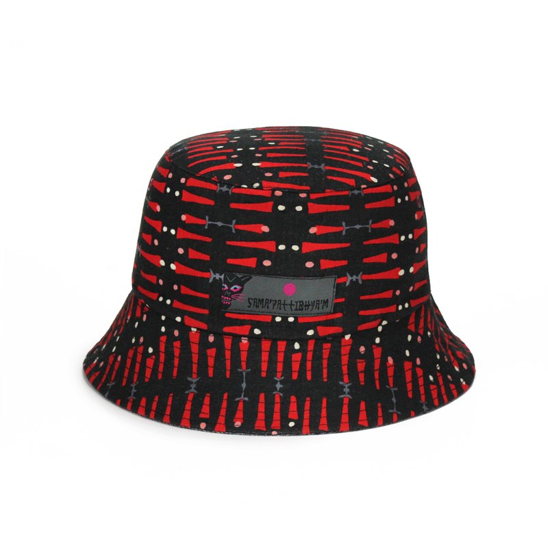 72708039e56 SAMA PATTIBHYA M® 235C Embroidery Reversible Bucket Hat old cloth  embroidered   Japanese