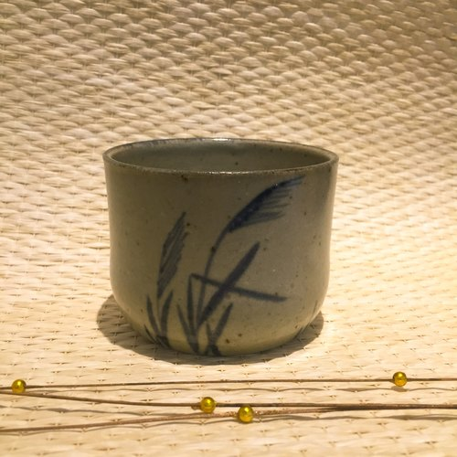 Chen Zhao teacher handmade reed grass cup