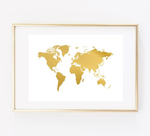 world map can be customized Hanging Poster