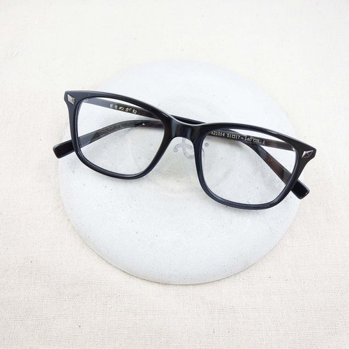 European and American wild black box frame glasses
