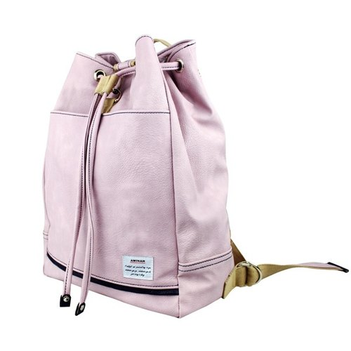 AMINAH- beam port light purple leather backpacks [am-0214]