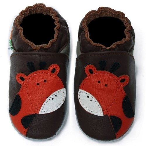 Momo Baby handmade leather toddler shoes - Giraffe Brown Giraffe Brown