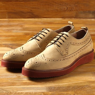 """Single preferential $ 2200"" Vanger US-‧ elegant modern casual wedge on red oxford shoes ║Va102 matte meters"