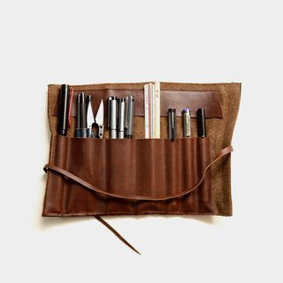 [Leather sushi] leather pencil leather leather pencil box tool bag pen pen scroll graduation gift guest carved letter when the gift father section Father's Day (leather has been revised, please refer to the text before the description)