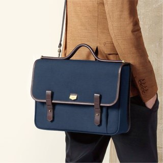 [ADOLE] Arc de Triomphe Inclined Side Back Bag - Navy Blue (13 pens available)