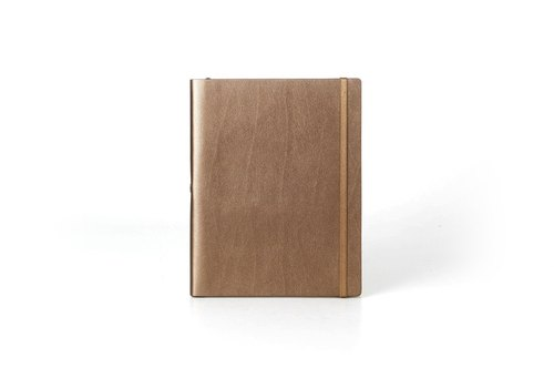 [Spot] No plain custom leather notebook B5 <gold> page within the lines