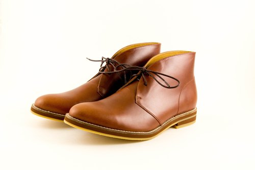 [LANEY SHOES. Lenny Jones] handsome and tidy handmade shoes desert boots. MIT handmade leather casual shoes men - # 41