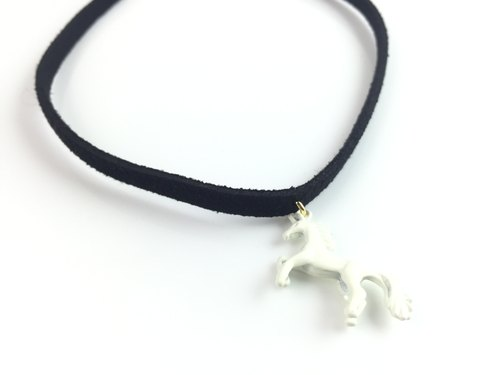 """White Pony Necklace"""