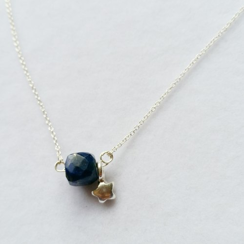 Is a radius of cutting lapis lazuli with sterling silver star silver necklace collarbone