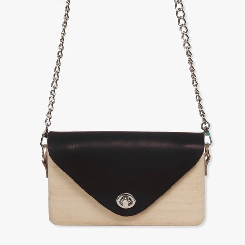 Wooden Clutch (Black)