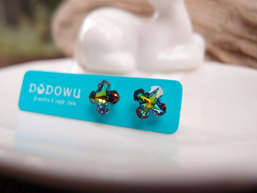 "[DODOWU hand-made light jewelry] ""doji single crystal & diamond ear"" Allergy & ear clip-on can be changed"