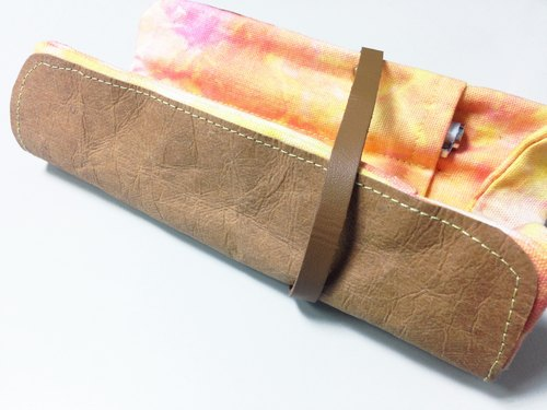 ". ""Paper"" and there you have. Colorful canvas pencil case"