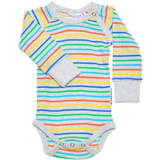 [Sweden] made of organic cotton gray color stripe package fart clothes (for 6M-2Y) Infant