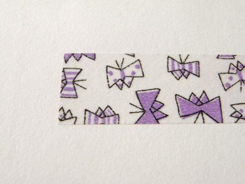 ● masking tape - butterfly - purple ● - Kurashiki design masking tape -Tm2