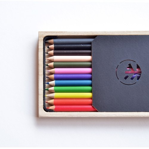 [Ichiro] wood color pencil record shop (12 colors)