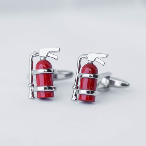 Fire Extinguisher Cufflinks - red FIRE EXTINGUISHER CUFFLINK