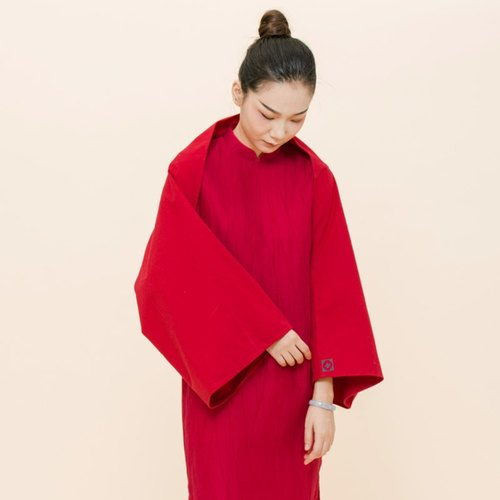 BUFU new year limited- Chinese red embroidered cape  A150912