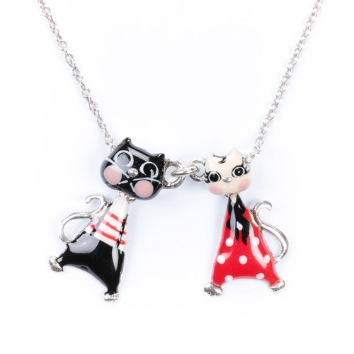 [Taratata smart cat series] Paris cold enamel color cute little kitty Roman Holiday pop style bracelet European style handmade jewelry
