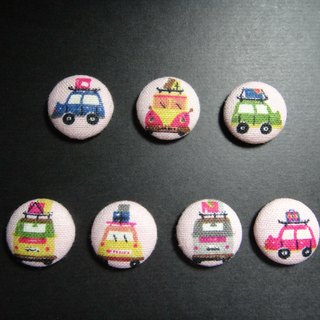 (C) the pink car _ cloth button badge C40DVY41