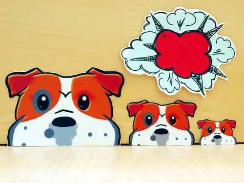 """NONCOOL‧ Cool farming"" Revisions * English Bulldog bushels WATCH ME! Stickers creative stickers"