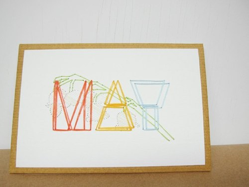 Paper. Line. * Birthday Card Series - Mayflower
