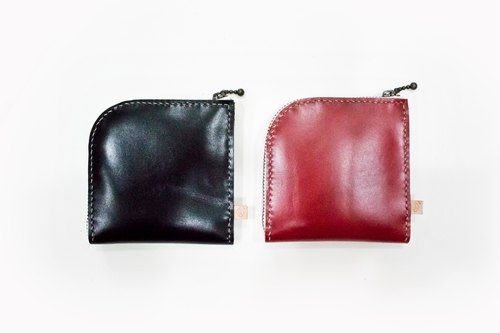L-Zip Short wallet/Genuine Leather