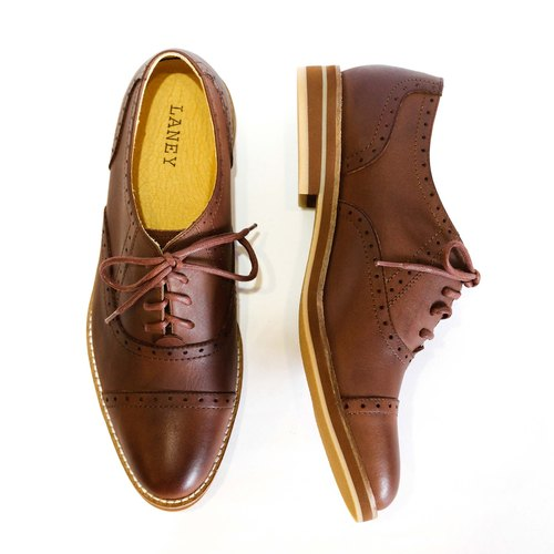 LANEY/Dark Brown Aniline Leather/Oxford Shoes
