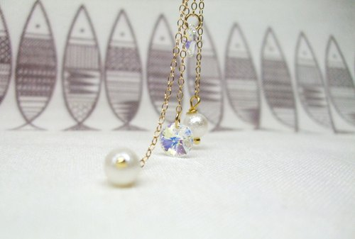 Earrings - when the snow on the ice flow solution