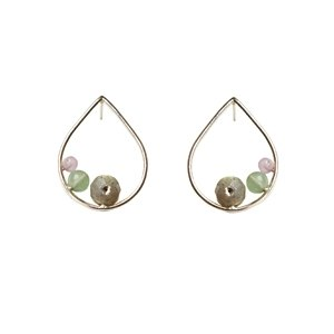 TRIO DROP 925 sterling silver three stone earrings