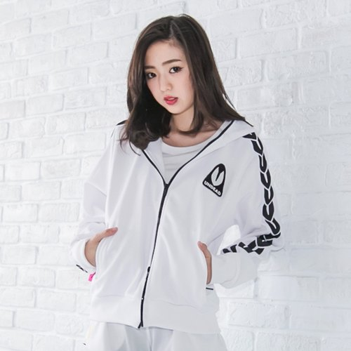 U-LINE female hooded jacket - white