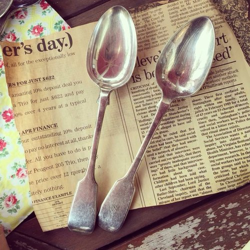 British silver plated cutlery old spoon spoon