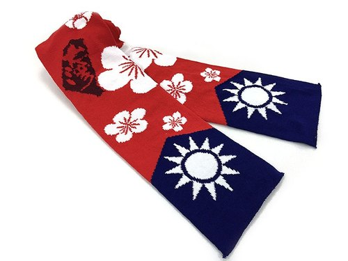 2016 New Year's Eve celebration flag scarves - Fireworks bloom Taiwan Limited models