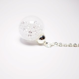 A Handmade white crystal ball necklace
