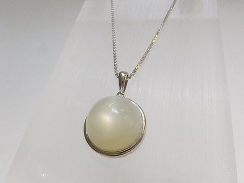 7. Natural Moonstone Sterling Silver Pendant