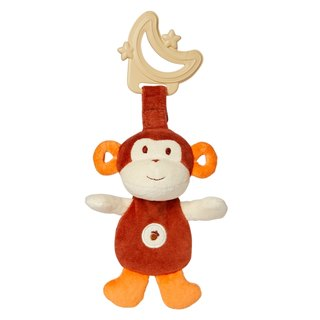 US MyNatural Teether Sensory dual environmental Gu Chi - brown monkey