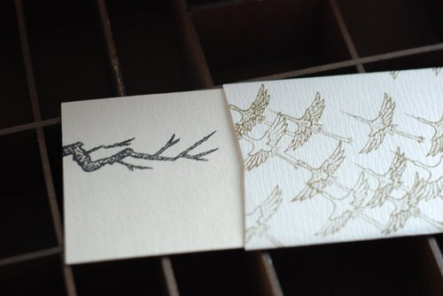 Japanese Long Stationery cards - echoing the paper sealing tube
