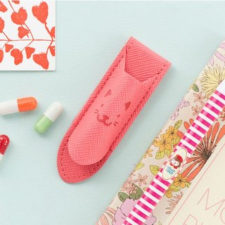 ARDIUM cat bookmark clip - coral pink.