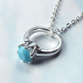 Birthstone Necklace Persistence Makino ‧ December Birthstone Silver Necklace - 64DESIGN