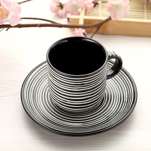 【Glaze】 coffee cup, cup plate group