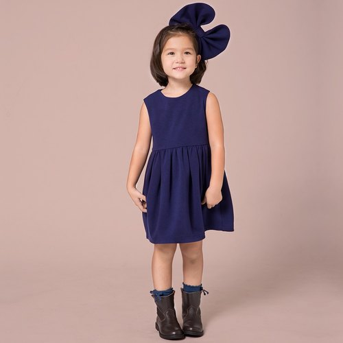 Ángeles-Royal Blue /  Dull Red Sleeveless Tulip Dress (8A-10A)