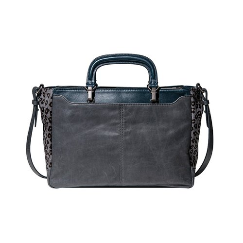 Cloudy Bay understated wild shoulder, handbag (blue, gray, leopard)