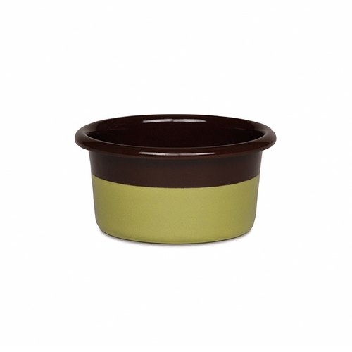 RIESS x Sarah Wiener joint paragraph enamel Muffin cup mold 8 * 4cm (chocolate / pistachio)