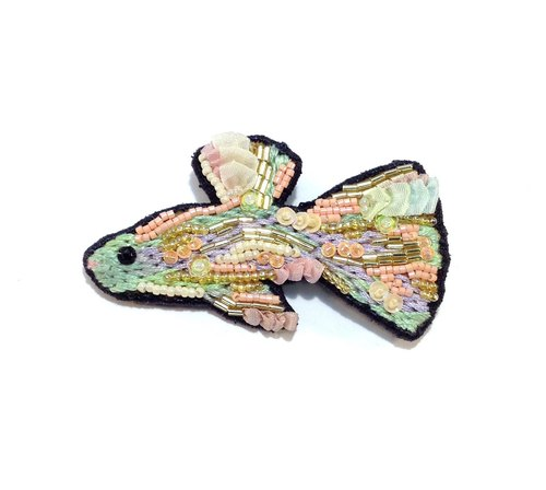 Fish brooch ribbon series
