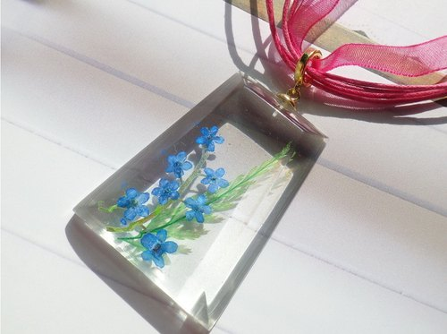 Anny's workshop Yahua jewelry hand-made, forget-me necklace (2)