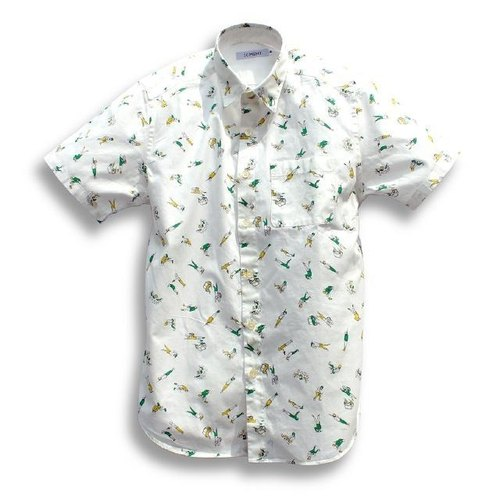Japanese brands sold exclusively ICHIMI- Woye! Hung up in smoke shirt / white