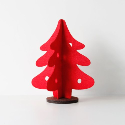 U-PICK original product life New Year series three-dimensional decorations - Christmas red M / L green Christmas tree