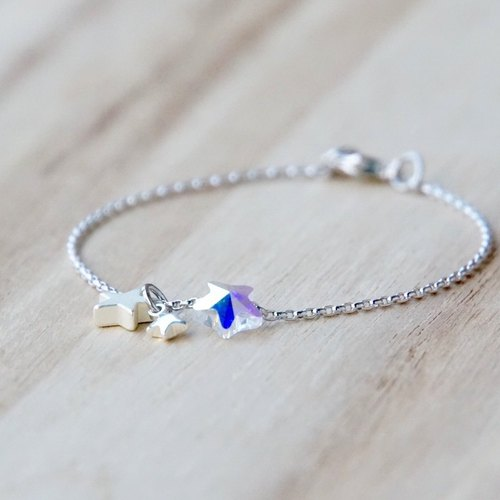 ITS-883 [silver chain · fairy tale star sky] pendant bracelet.
