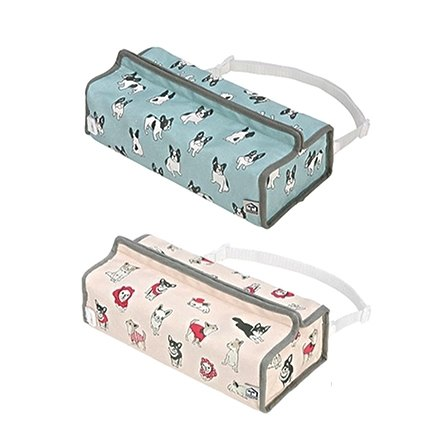 Spot. Car hanging tissue box (2 styles French Bulldog / Chihuahua) [formal agency ッ Japanese brand fu ra pa ー] (spot that is shipped, no spot is 14 to 20 days)